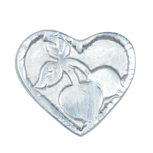 KNOB HEART WITH DESIGN  - ALUMINIUM