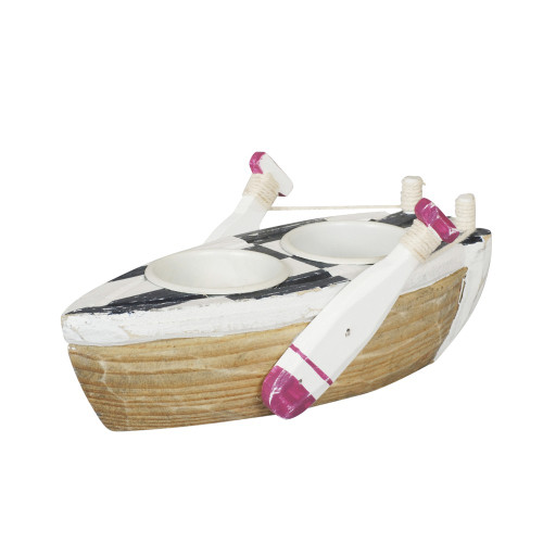 BOAT CANDLE HOLDER - TWO