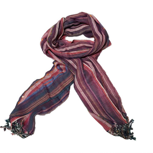 ASSORTED DUST PINK STRIPES STOLE