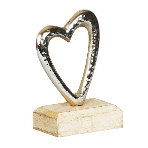 OPEN HEART WITH WOOD BASE