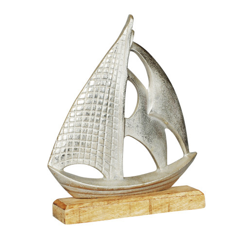 BOAT WITH WOOD BASE