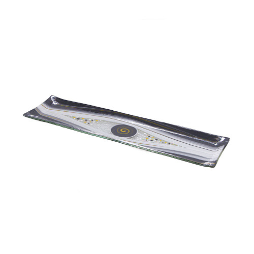 GREY GARLIC PLATTER  40CM X 10CM
