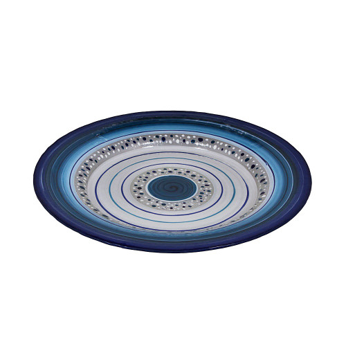 ROYAL BLUE ROUND FRUIT PLATTER - 42CM