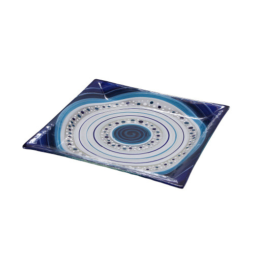 ROYAL BLUE SQUARE PLATTER 26 X 26CM