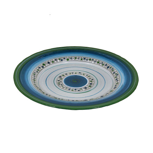 GREEN ROUND FRUIT PLATTER - 42CM