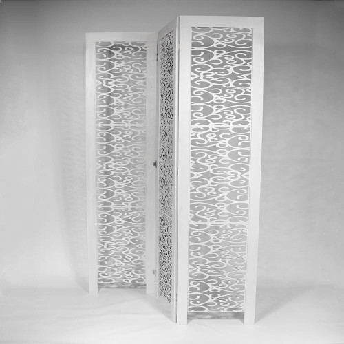 3 PANEL SCREEN OFF WHITE 195x5x50cm - CURLS