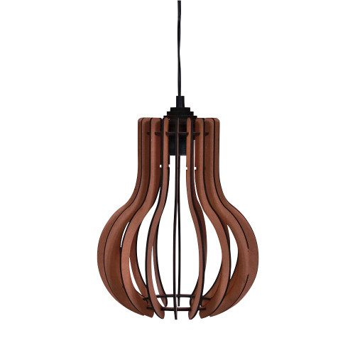 NATURAL HANGING LAMP ROUND - 25 X 25 X 38