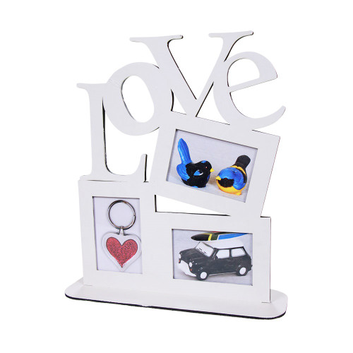 LOVE STANDING PICTURE FRAME - CREAM - 20 X 20 X 46
