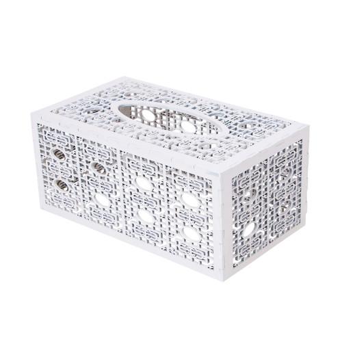 TISSUE BOX COVER - CREAM - 23.5 X 13.5 X 10.5