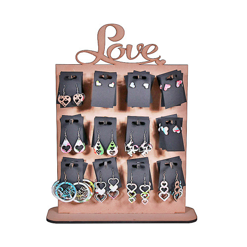 LOVE EARRING STAND - 48 PAIRS