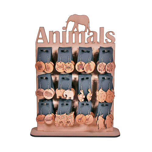 ANIMALS EARRING STAND - 48 PAIRS