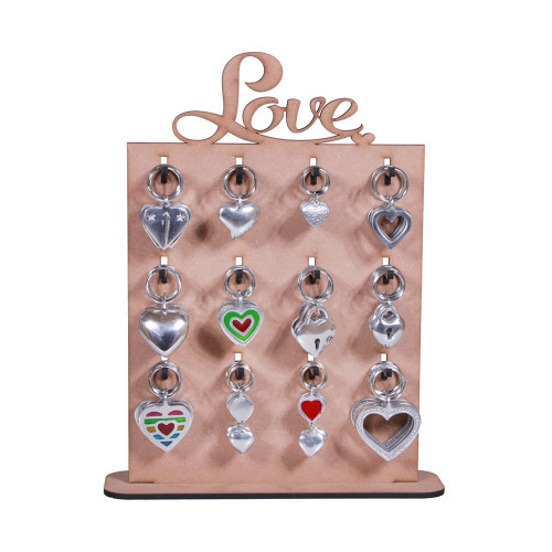 LOVE KEYRING STAND NEW