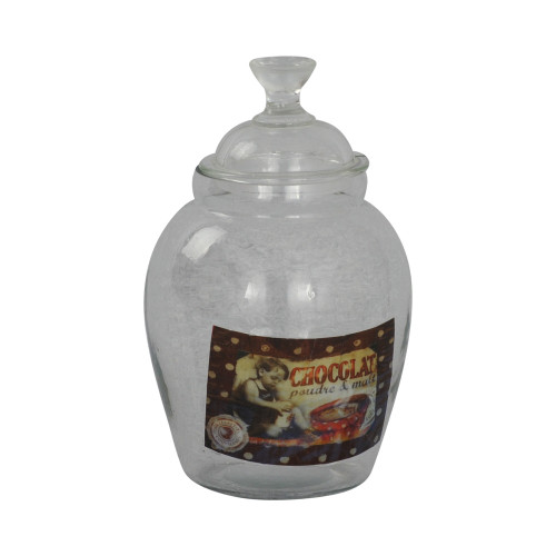 GLASS JAR WITH GLASS LID