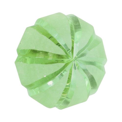 KNOB - GLASS - AQUA GREEN 40MM