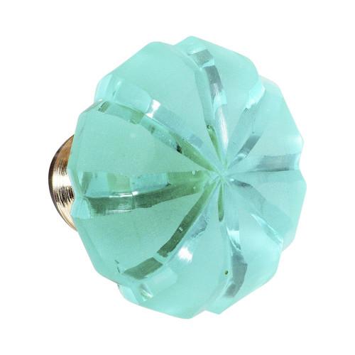 KNOB - GLASS - BLUE - 40MM