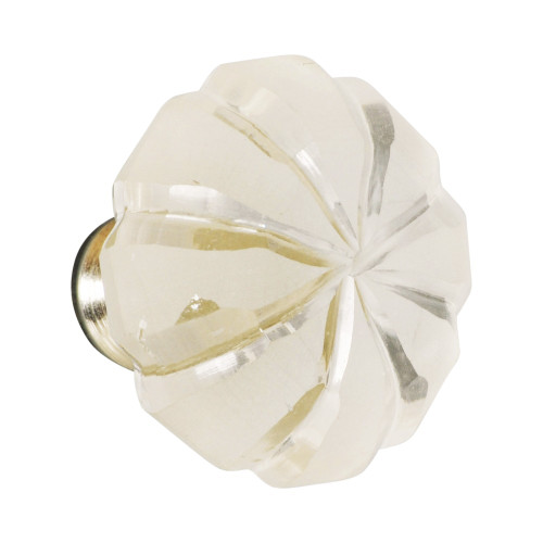 KNOB - GLASS - CLEAR - 40MM