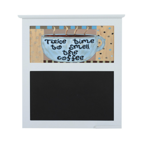 BLACK BOARD WITH PAINTED GLASS