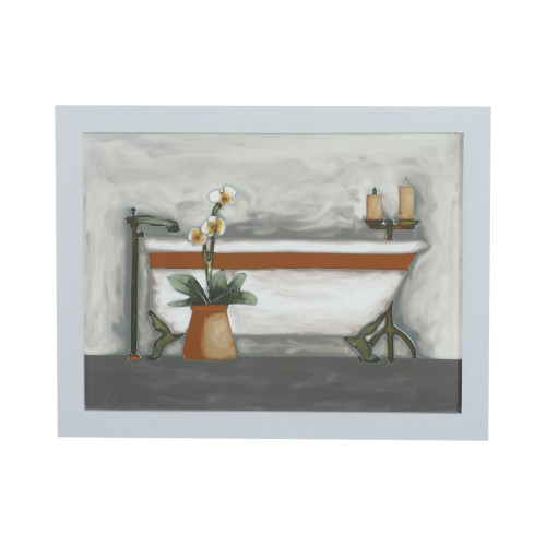 PAINTED GLASS DECOR - BATHROOM 3