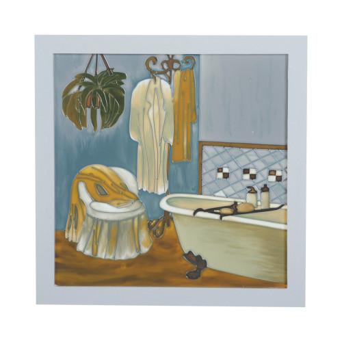 PAINTED GLASS DECOR - BATHROOM 8