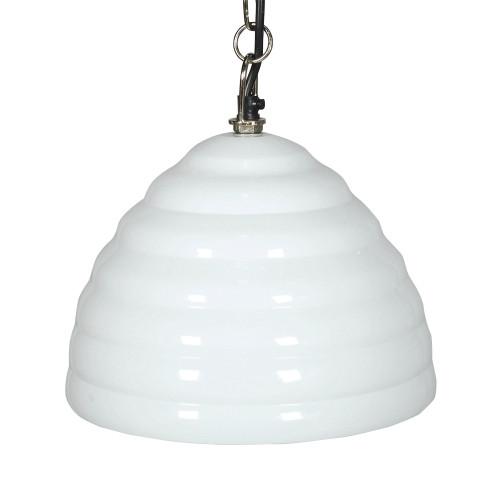 HANGING LAMP (24CM DIA) - WAVES - WHITE