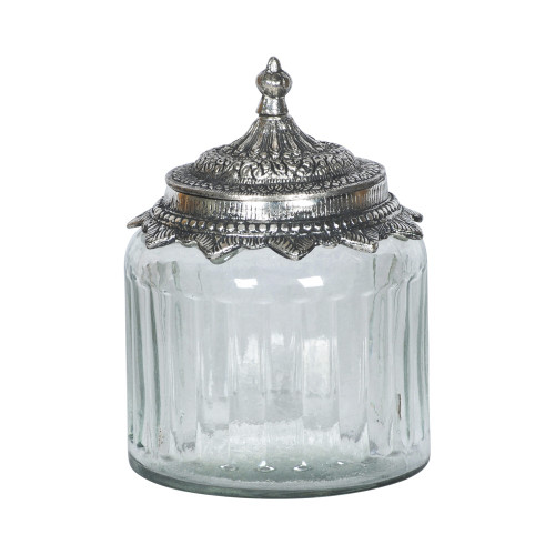 JAR WITH METAL LID