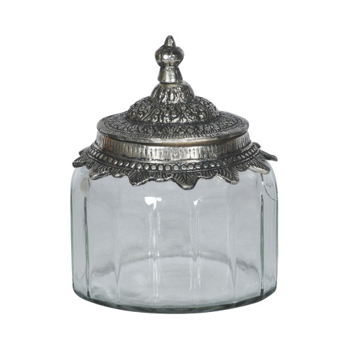 JAR WITH METAL LID 8