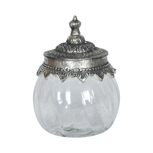 JAR WITH METAL LID 10