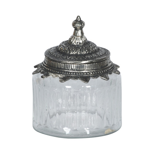 JAR WITH METAL LID 12