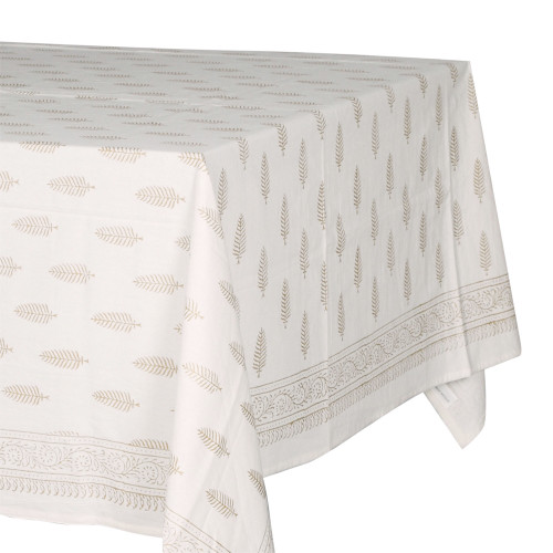 TABLECLOTH - PRINTED COTTON - GOLD