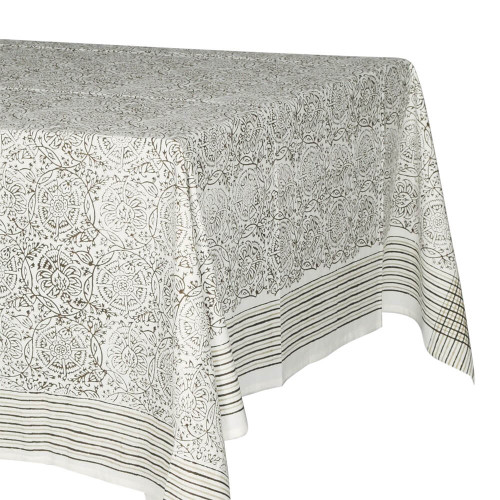 TABLECLOTH - PRINTED COTTON - BROWN