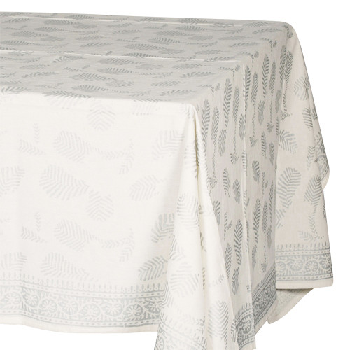 Tablecloth (6 - 8 Seater)- Silver on cream