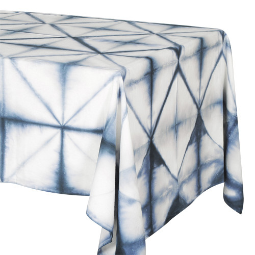TABLECLOTH (6 - 8 SEATER) - TIE DYE DIAMOND PATTERN