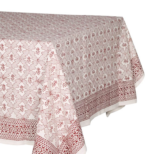 TABLECLOTH (8 -10 SEATER) - BLOOD RED