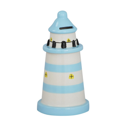 MONEY BOX LIGHT HOUSE LIGHT BLUE