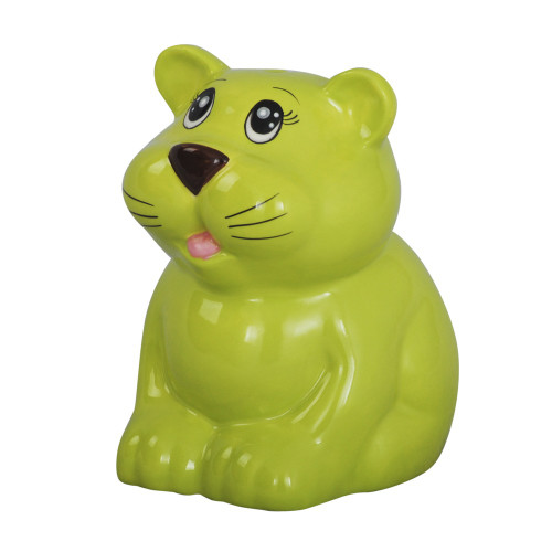 MONEY BOX TIGER LIGHT GREEN