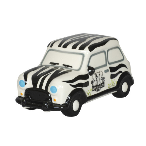 MONEY BOX - ZEBRA ADVENTURE CAR