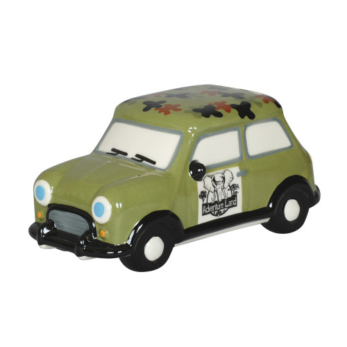 MONEY BOX - GREEN ADVENTURE CAR