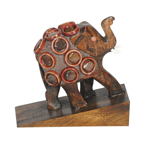 DOOR STOPPER - WOODEN ELEPHANT