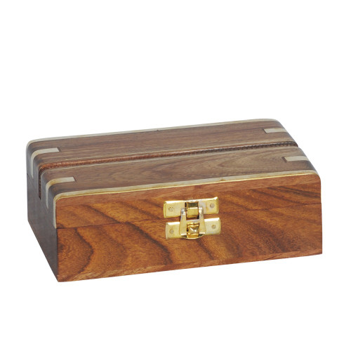 BOX - WOOD / BRASS 20