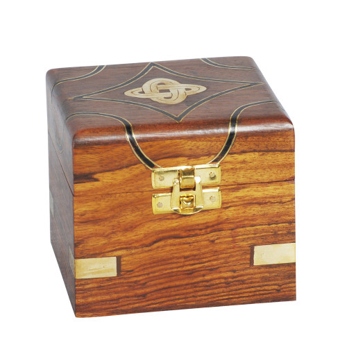 BOX - WOOD / BRASS 21