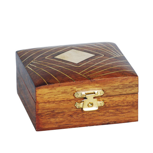 BOX - WOOD / BRASS 23