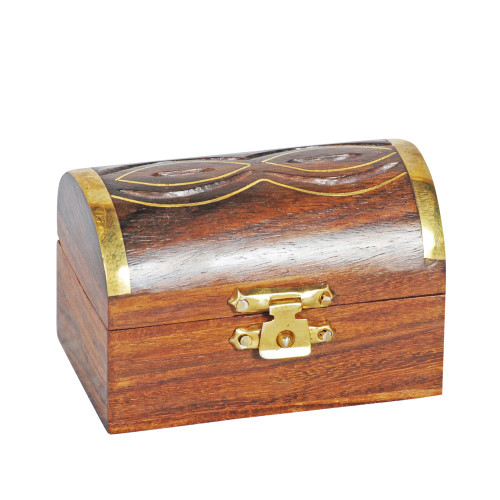 BOX - WOOD / BRASS 32