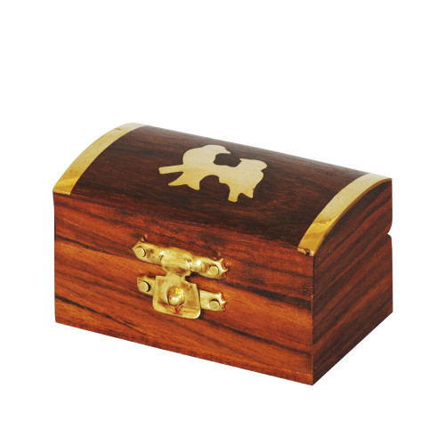WOODEN BOX - BRASS 74