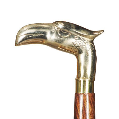 WALKING STICK - NATURAL SHEESHAM WOOD - EAGLE