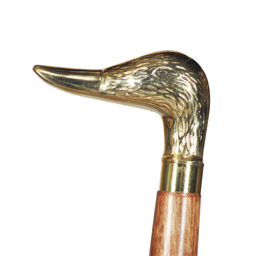 WALKING STICK - NATURAL SHEESHAM WOOD - DUCK