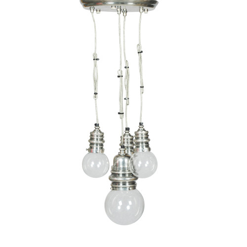 HANGING LAMP WITH CLEAR GLASS BALLS