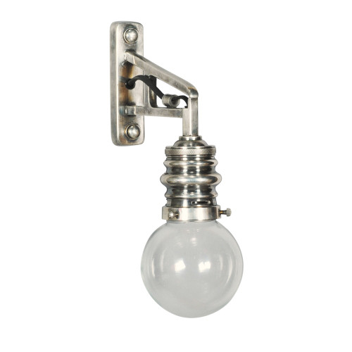 WALL LAMP - CLEAR GLASS BALL 1742