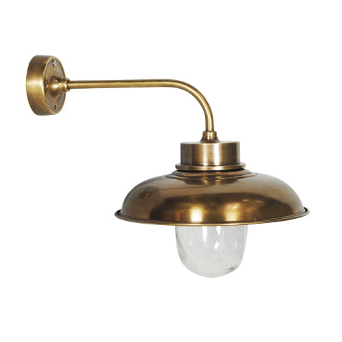 WALL LAMP, ANT. BRASS 41