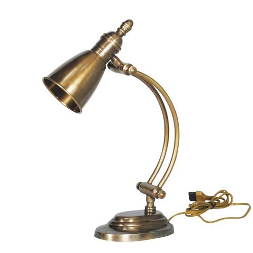 DESK LAMP, ANT. BRASS 56