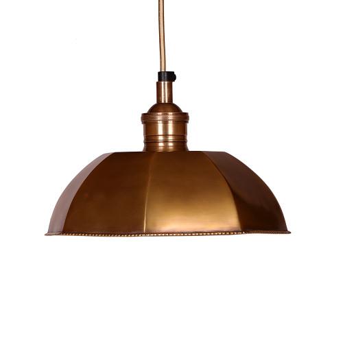 HANGING LAMP, ANT. BRASS 69